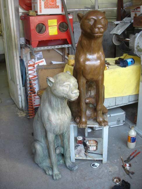 Le bronze avant et après restauration