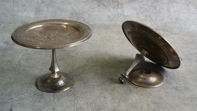 Les coupes en cuivre avant la restauration