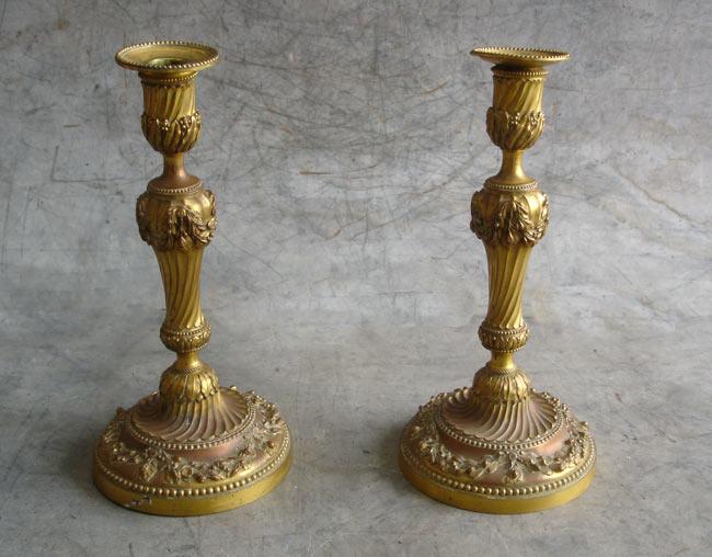 Flambeau Christofle en cuivre réalisé par galvanoplastie