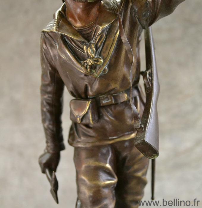 Vue de détail du fusilier marin de Charles Anfrie