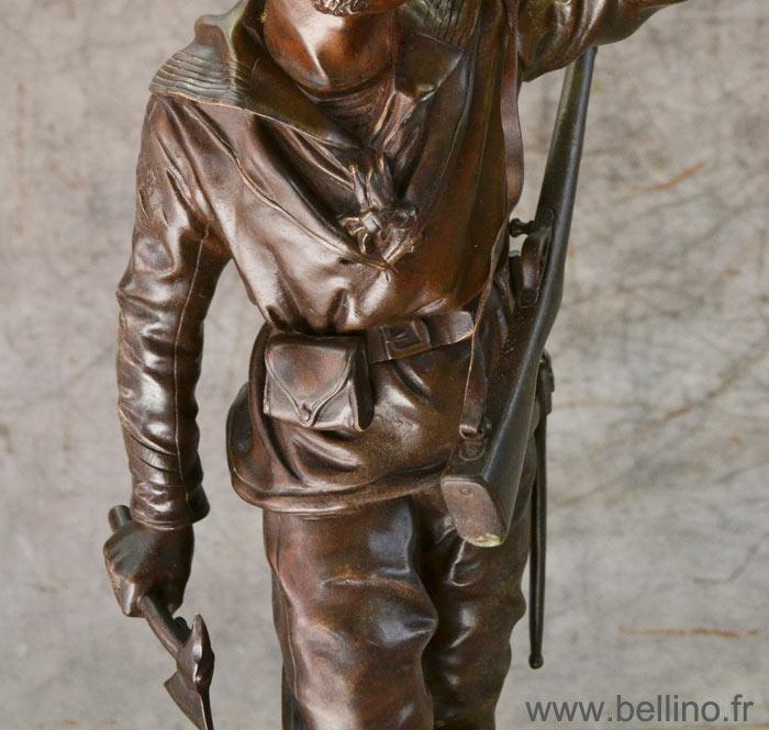Détail du bronze après restauration