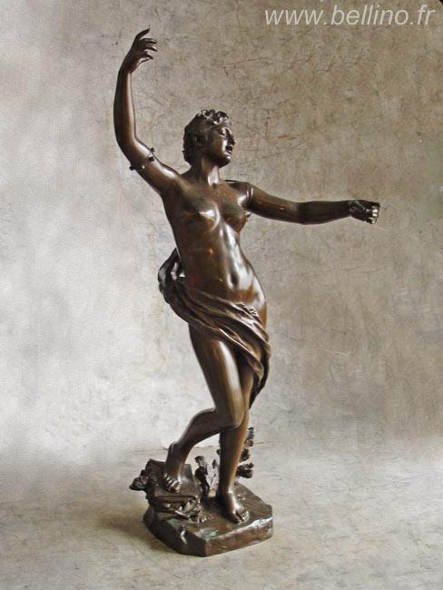 Bronze patiné de Félix Charpentier avant restauration