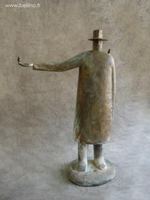 La sculpture après réparation  et patine