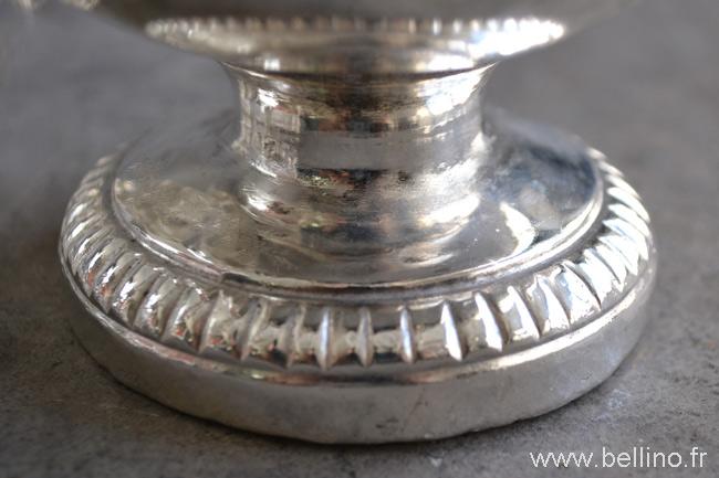 Le piedouche de l'encensoir après réparation