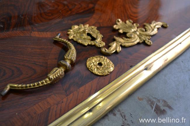 Aspect de la couleur comparée à celle des bronzes