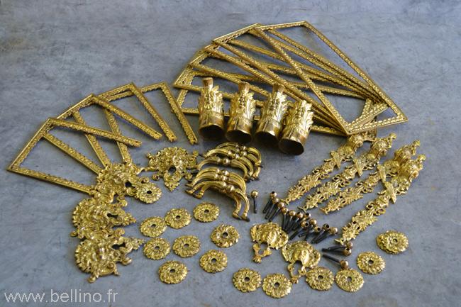 Les bronzes dorés et patinés
