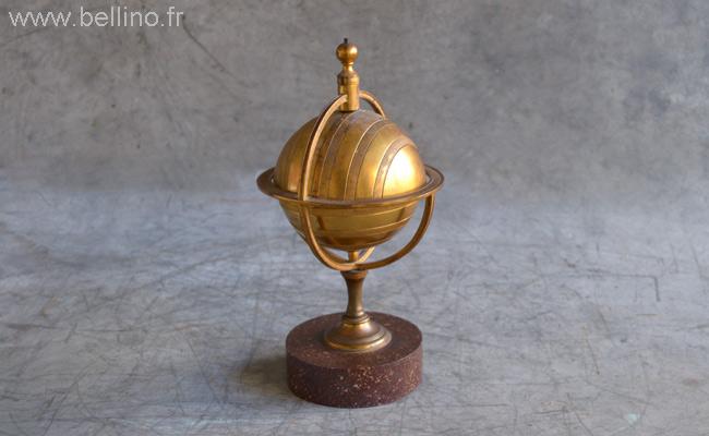Encrier XIXème en bronze avant restauration