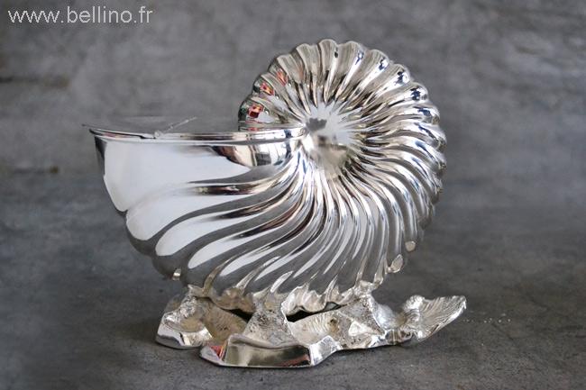 Nautile Anglais XIXème en métal argenté