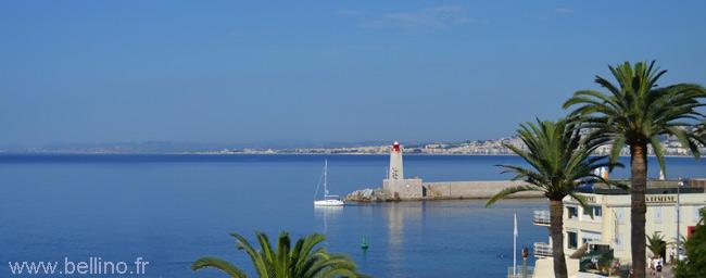 Vue de la mer depuis le séminaire de Nice