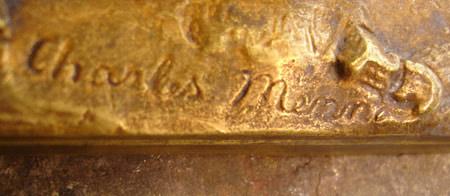Signature sur la terrasse du bronze