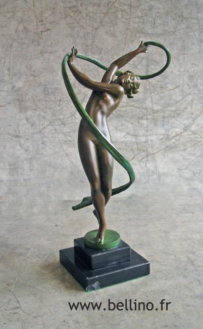 La sculpture en régule de Fayral après restauration