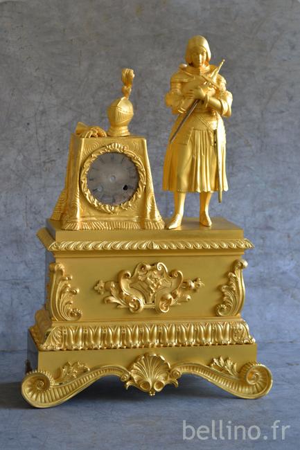 La pendule Jeanne d'Arc restaurée