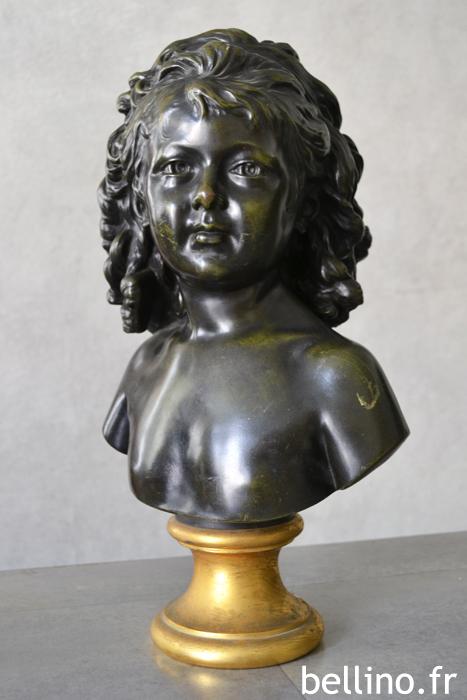 Buste bronze de Houdon , Sabine