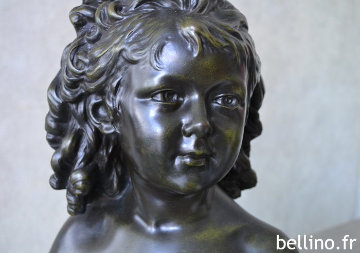 """Le visage de """"Sabine"""" par Houdon après restauration"""