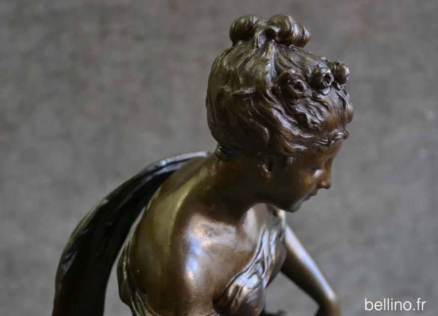 Détail de la soudure du cou de la sculpture de Guillot