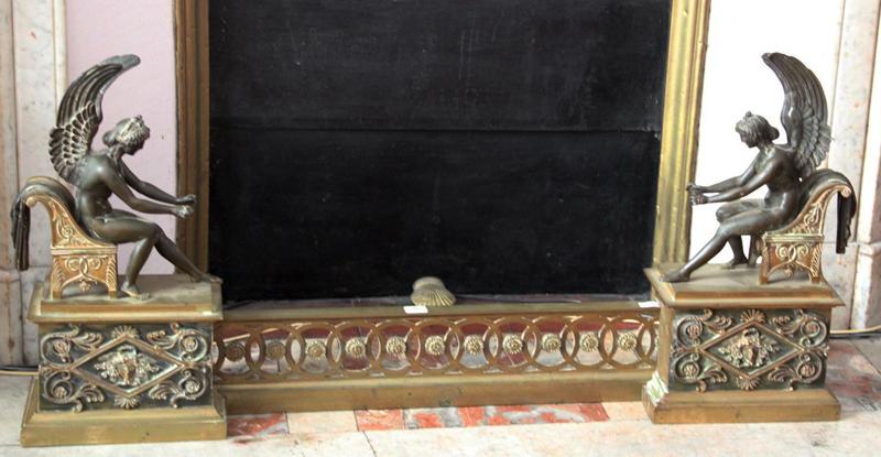 barre de foyer en bronze doré Directoire avant restauration
