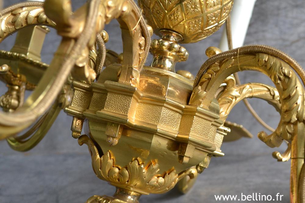 Détail du bronze doré