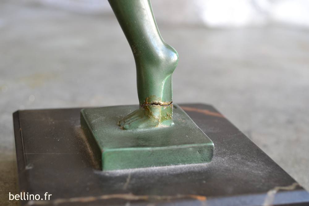 Aspect de la cassure du pied