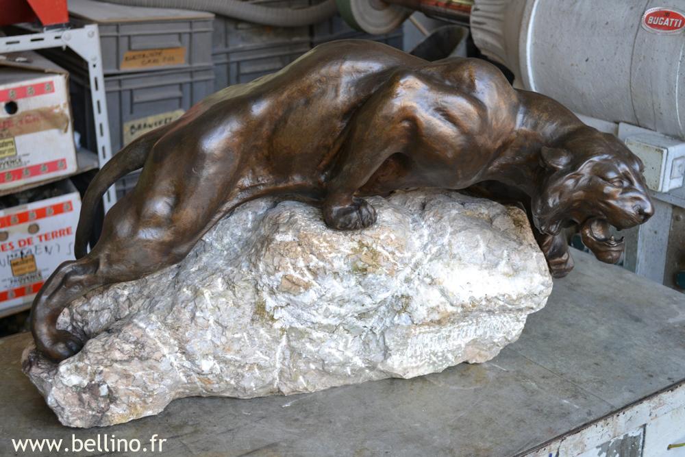 La sculpture après restauration