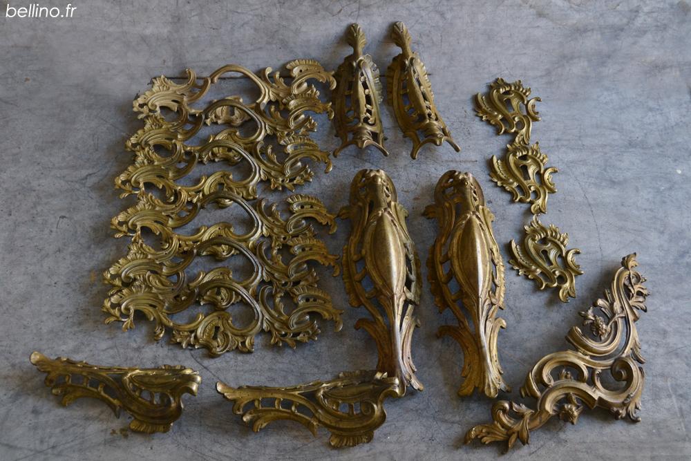 Parura de bronzes Louis XV